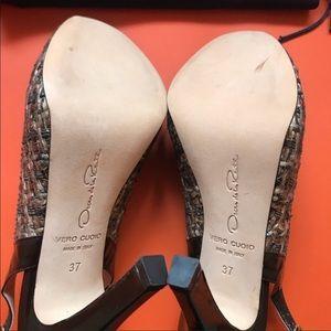 Oscar de la Renta Shoes - Authentic Oscar De La Renta Tweed Slingback Shoes